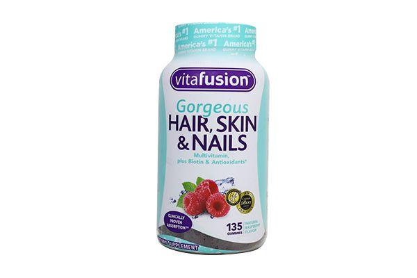 Kẹo dẻo đẹp da móng tóc Vitafusion Gorgeous Hair, Skin & Nails 135 viên