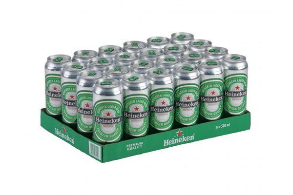 Thùng 24 Lon Bia Heineken Hà Lan (Lon Cao 500ml)