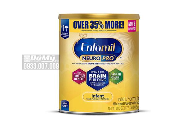 Sữa bột Enfamil Neuro Pro NON-GMO Infant Formula 802g