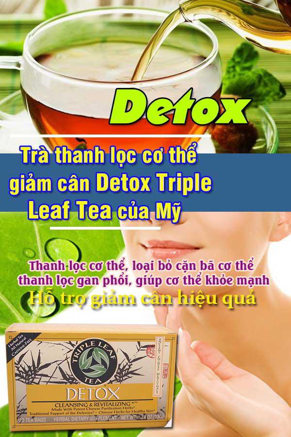 Trà thanh lọc cơ thể giảm cân Detox Triple Leaf Tea của Mỹ