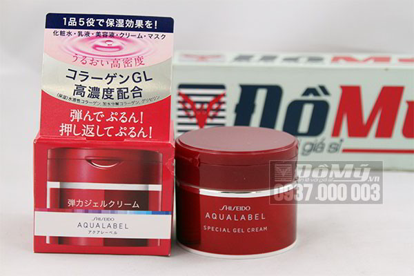 Kem dưỡng da ban đêm Shiseido Aqualabel màu đỏ 90g của Nhât