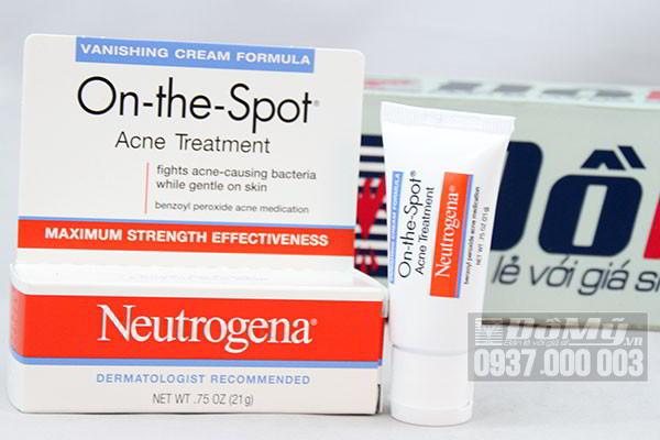 Kem trị mụn Neutrogena On The Spot Acne Treatment 21g của Mỹ