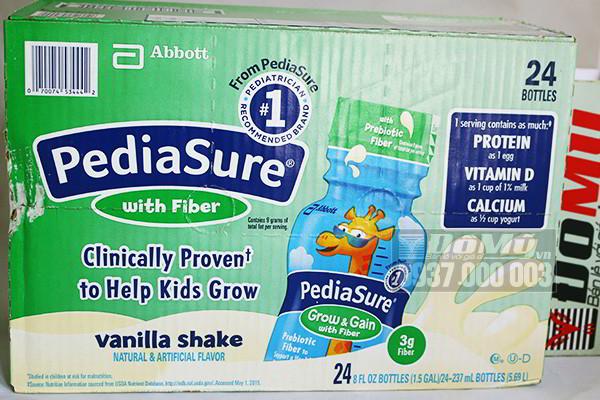 Sữa Pediasure nước Pediasure with Fiber hương vali 237 ml của Mỹ