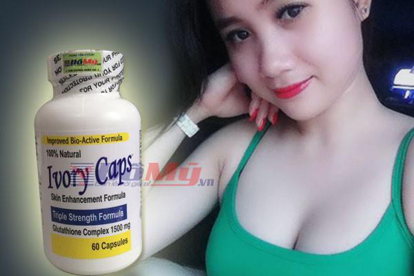 Viên uống trắng da Glutathione Complex 1500mg Ivory Caps Mỹ