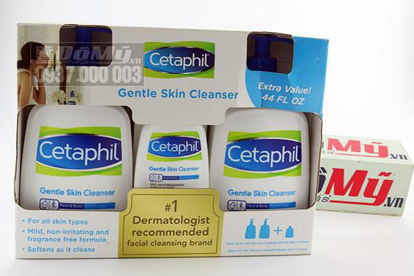 Bộ sữa dưỡng thể dưỡng ẩm Cetaphil Moisturizing Lotion của Canada