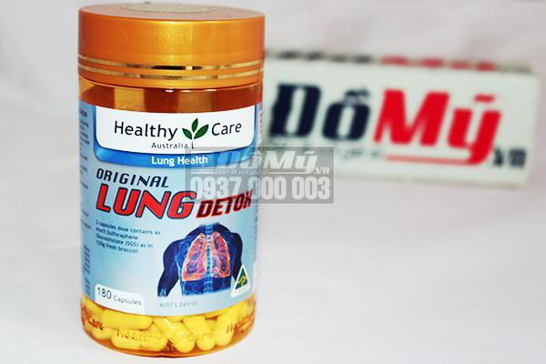 Viên uống giải độc phổi Healthy Care Original Lung Detox 180 viên của Úc