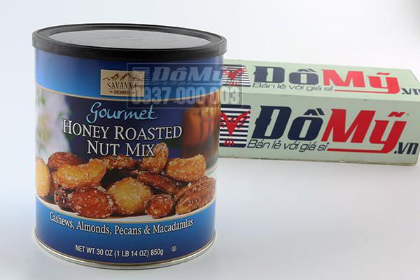 Hạt tổng hợp tẩm mật ong Gourmet Honey Roasted Nut Mix 850g của Mỹ
