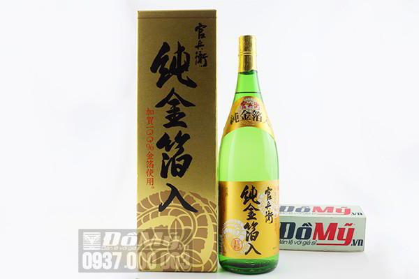 Rượu Sake vẩy vàng Hakushika 1800ml của Nhật Bản