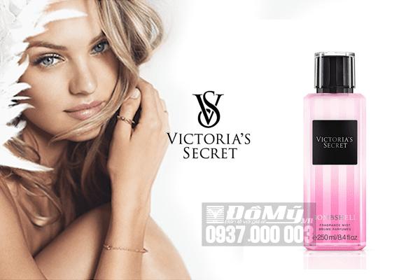 Xịt thơm toàn thân Victoria's Secret Fragrance Mist BombShell 250ml của Mỹ