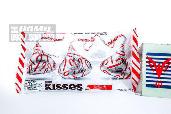 Kẹo Chocolate Kisses Candy Cane Noel 226g của Mỹ