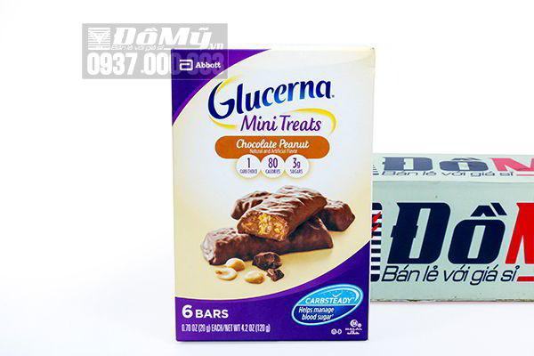 Bánh Chocolate Peanuts dành cho người tiểu đường Glucerna Mini Treats của Mỹ 120g của Mỹ