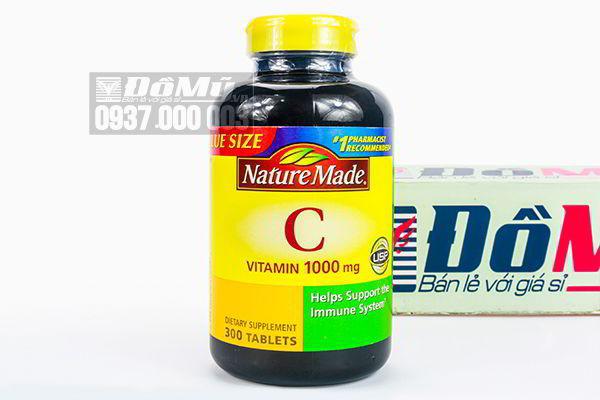 Viên uống bổ sung Vitamin C 1000mg Nature Made 300 viên của Mỹ