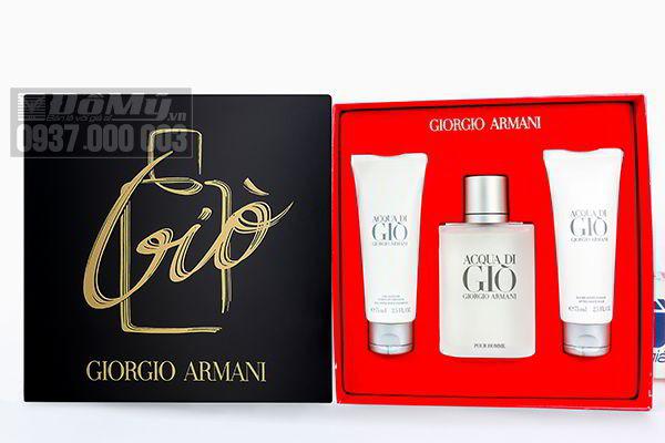 Bộ quà tặng nước hoa, sữa tắm, kem thoa cạo râu Giorgio Armani Acqua Di Gio 100ml của Pháp
