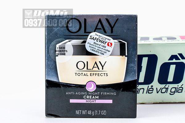 Kem dưỡng chống lão hóa Olay Total Effects Anti – Aging Night Firming Cream 48g của Mỹ