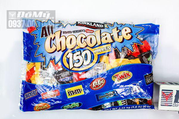 Kẹo chocolate tổng hợp 9 loại 150 gói của Mỹ