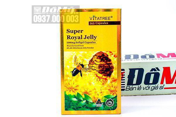 Sữa Ong Chúa Vitatree Super Royal Jelly 1600mg 365 viên nhập từ Úc