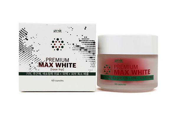 Viên uống trắng da, thơm cơ thể Max White Genie 60 viên (đỏ)