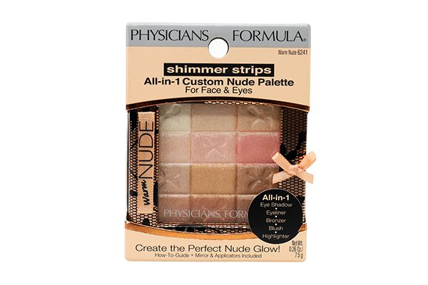 Phấn má hồng Physicians Formula Nude Wear /Phấn phủ Shimmer Strips All-in-1