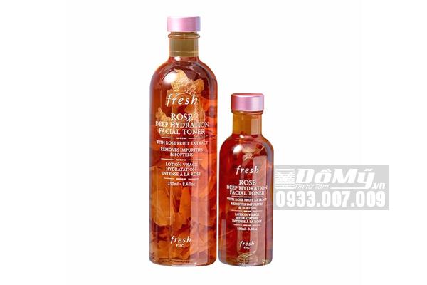 Nước hoa hồng Fresh Rose Deep Hydration Facial Toner 250ml - Mỹ
