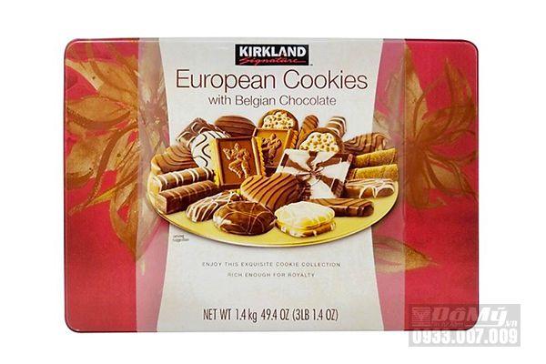 Bánh quy Kirkland Signature European Cookies With Belgian Chocolate 1,4kg của Mỹ