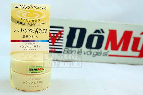 Kem dưỡng da Shiseido Aqualabel Cream EX hủ vàng của Nhật bản