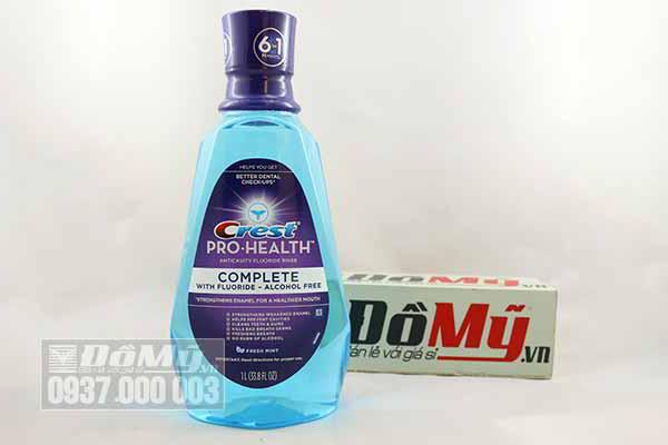Nước súc miệng CREST Pro Health 1l hương bạc hà của Mỹ