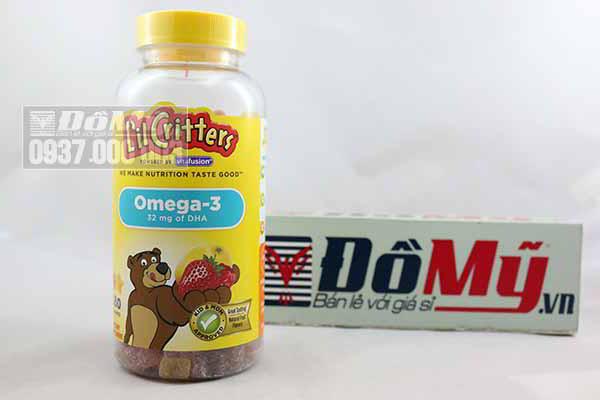 Kẹo gấu dẻo Omega-3 bổ sung DHA Gummy Fish™ hộp 180 viên của Mỹ