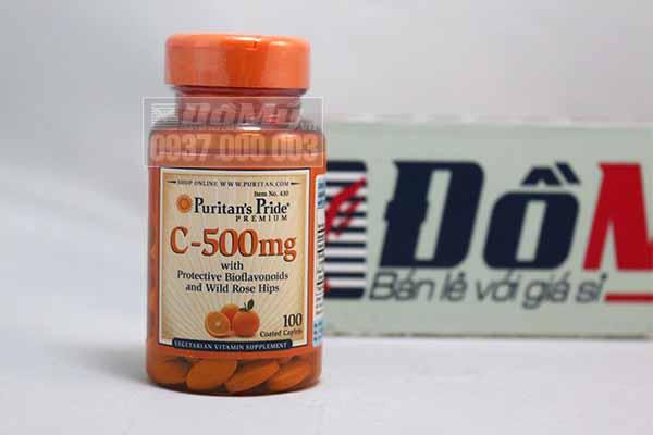 Vitamin C 500mg puritan's pride hộp 100 viên - Vitamin C của Mỹ