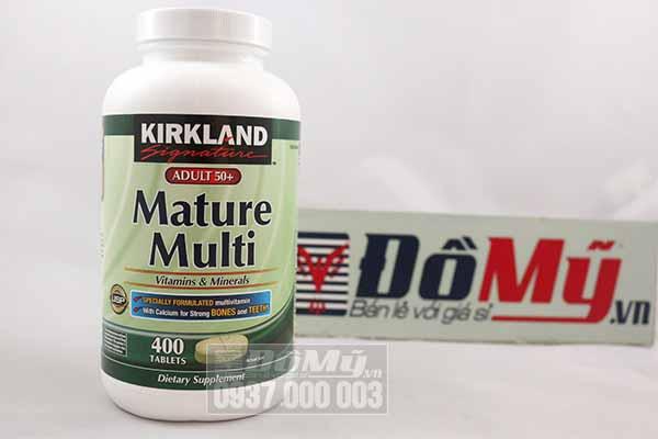 Bổ sung vitamin cho người trên 50 tuổi - Kirkland Mature Adults 50+ Multi 400 viên