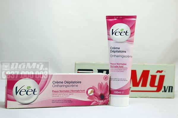 Kem tẩy lông Veet 100ml cho da thường hương hoa nhài - Pháp