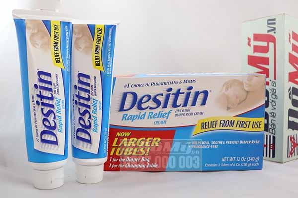 Kem chống hăm tã nhập khẩu từ Mỹ Desitin Rapid Relief Cream 340g