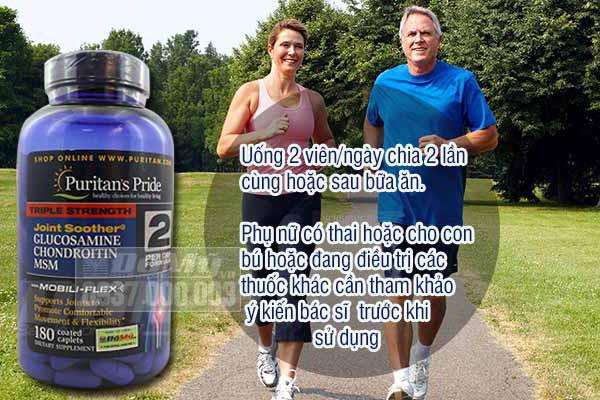 Glucosamin Chondroitin MSM Puritans Pride 180 viên - Glucosamin Mỹ HIỆU QUẢ CAO