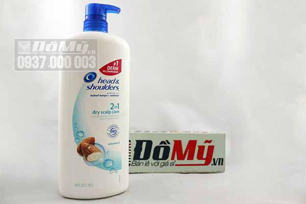 Dầu gội và dầu xả của Mỹ Head vs Shoulders 2in1 Dry Scalp Care 1.18l