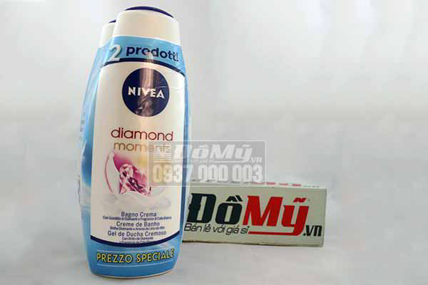 Bộ đôi Sữa tắm  từ Đức Nivea Diamond Moments loại 750ml