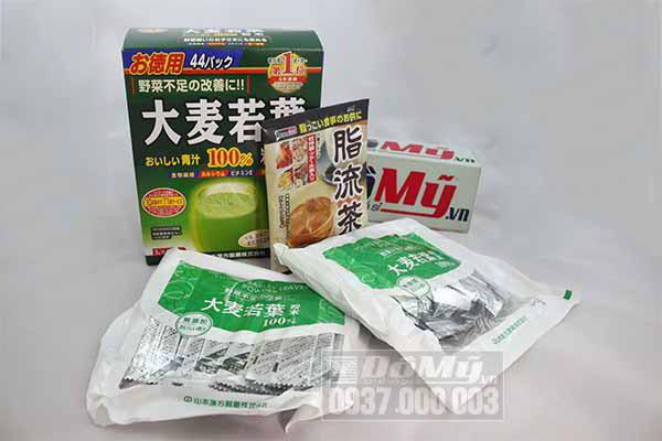 Bột mầm lúa mạch Barley Grass Nhật Bản 44 gói x 3g/Hộp của Nhật Bản