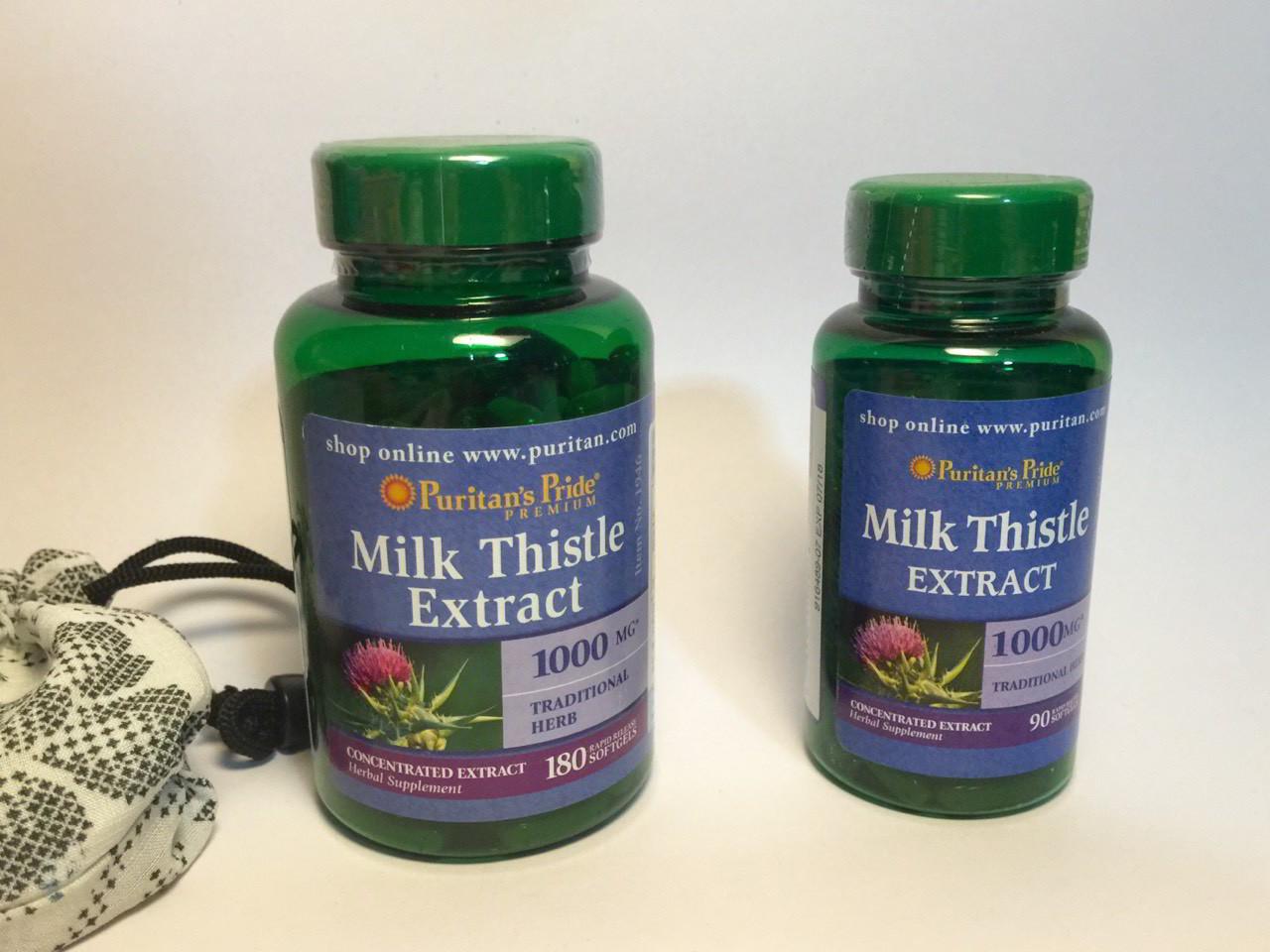 Hỗ trợ cho gan Milk Thistle 1000mg Puritan Pride 90 viên của Mỹ
