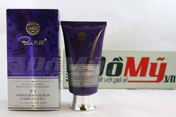 Kem tẩy trắng toàn thân Blue Pure F1 White Body Scrub Complex