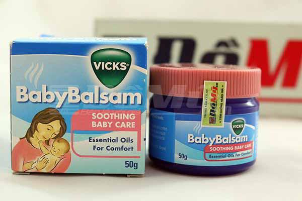 Dầu Vicks Baby Balsam  giảm ho, sổ mũi, ngạt mũi cho trẻ