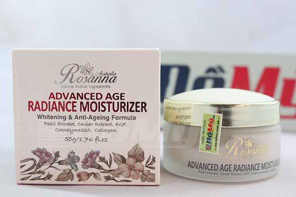 Kem Làm Trắng Da của Úc Rosanna Advanced Age Radiance Moisturizer loại 50g