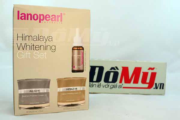 Bộ sản phẩm trị nám và làm trắng da của Úc Lanopearl Himalaya Whitening Gift Set