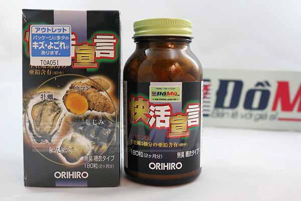 Tinh chất hàu tươi, tỏi, nghệ Orihiro thải độc gan, bổ dương 180 viên