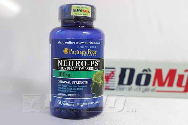 Viên uống mang lại tác dụng bổ não, tăng cường chức năng não Neuro-Ps 100mg Puritans Pride  hộp 60 viên của Mỹ