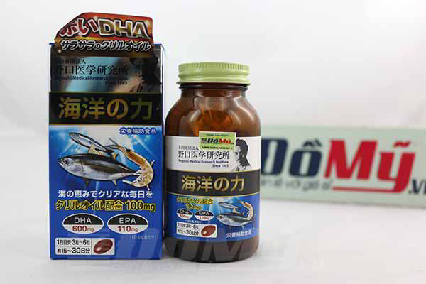 Viên uống giúp bổ não, tăng cường trí nhớ, bồ sung  DHA,  EPA Noguchi của Nhật Bản