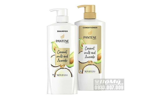 Bộ dầu gội Pantene Pro-V Coconut Milk and Avocado 1.13L của Mỹ