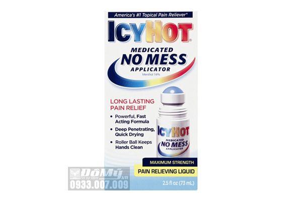 Dầu nóng ICY HOT Pain Relieving Liquid dạng lăn 73ml của Mỹ