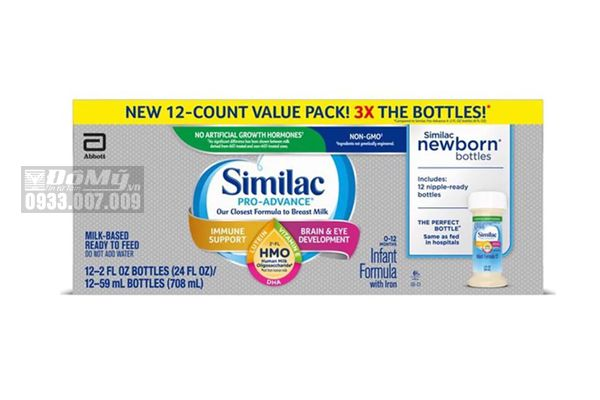 Sữa nước Similac PRO ADVANCE HMO Non – GMO Infant Formula with Iron 59ml của Mỹ