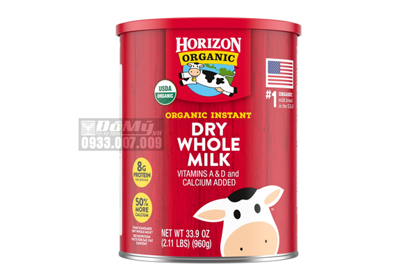 Sữa tươi dạng bột Horizon Organic Dry Whole Milk 960g của Mỹ