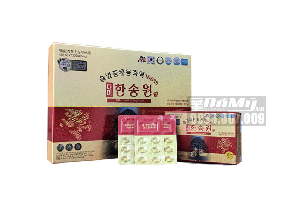 Tinh dầu thông đỏ Dami Hansongwon Hàn Quốc hộp 120 viên