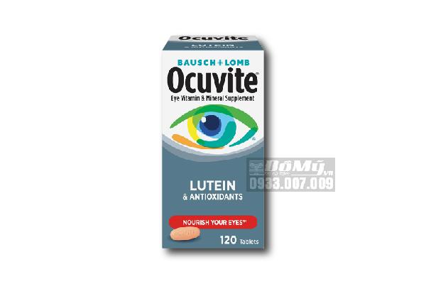 Viên uống bổ mắt Ocuvite Bausch+Lomb with Lutein & Antioxidants 120 viên