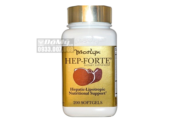 Thuốc bổ gan Hep Forte của Mỹ hộp 200 viên